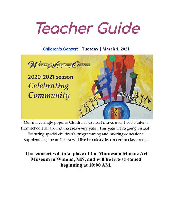 Winona Symphony Orchestra Teacher Guide